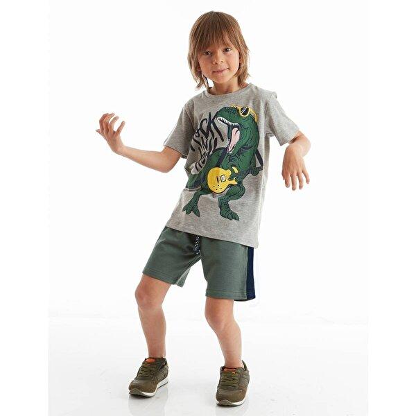 Mushi Rock Dino Erkek Çocuk Şort Takım