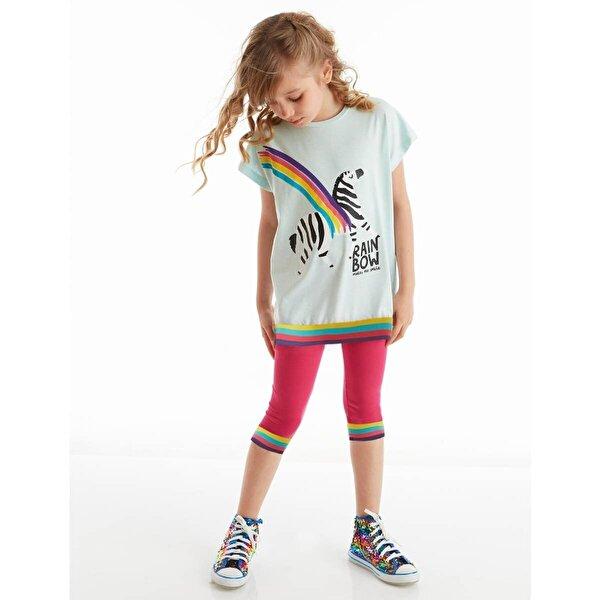 Mushi Rainbow Zebra Kız Tayt Takım