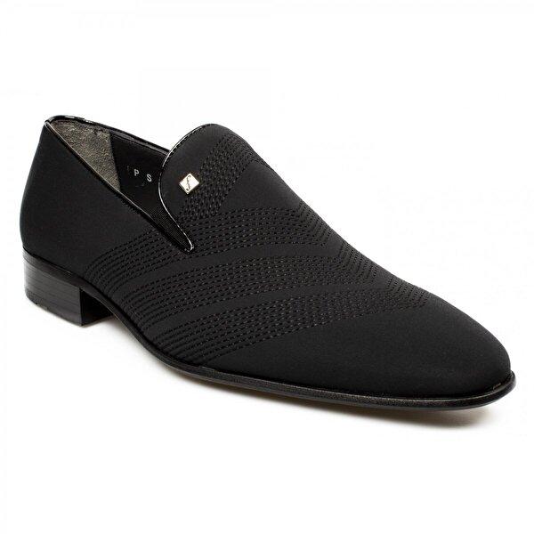 FOSCO 1010M Nakişli Klasik Siyah Erkek Ayakkabı