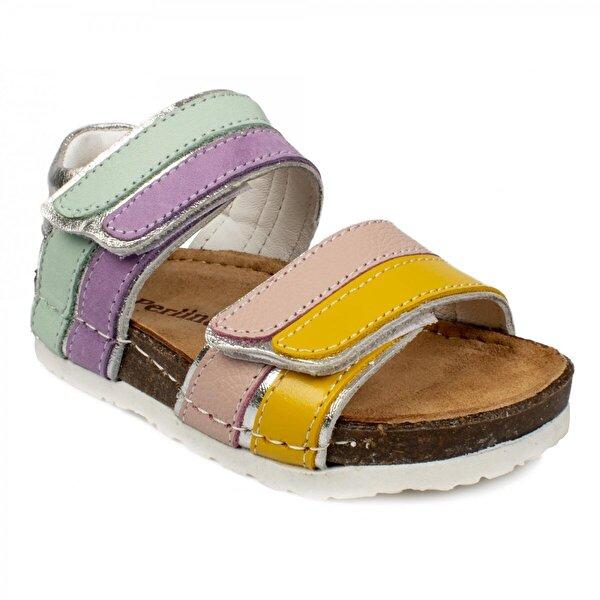 Perlina 196 B Günlük Mor Çocuk Sandalet