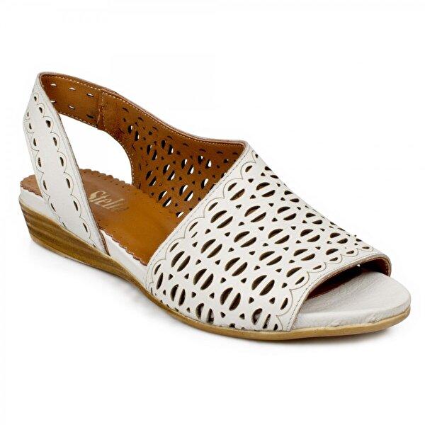 Stella 20219Z Fashion Beyaz Kadın Sandalet