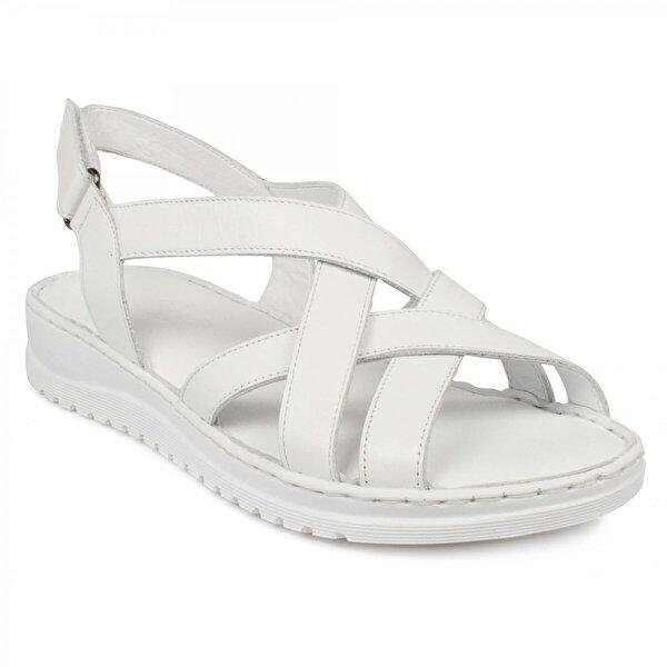 Stella 20328Z Casual Günlük Beyaz Kadın Sandalet