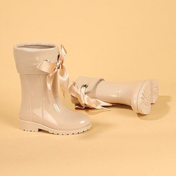 Igor İgor W10114 Campera Charol Kız Çocuk Su Geçirmez Yağmur Kar Çizmesi BEJ
