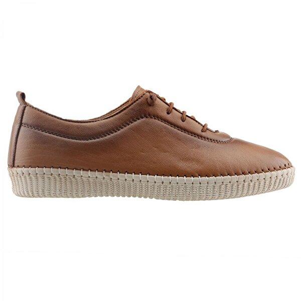 Frida 5001 Günlük %100 Deri FullComfort Orto pedik Bayan Ayakkabı TABA