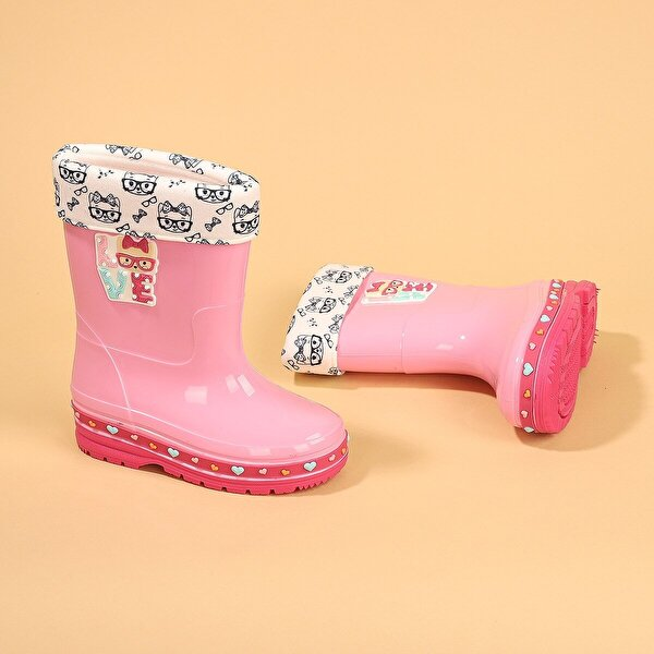 GEZER 00575-560 Yağmur Su Geçirmez Kız Çocuk Çizme Bot Pembe