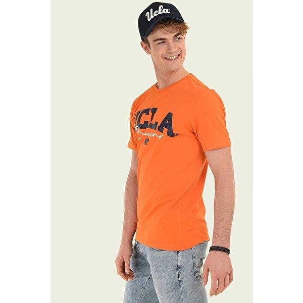 Ucla RAMONA Turuncu Bisiklet Yaka Erkek T-shirt