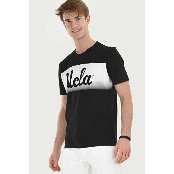 Ucla OXNARD Siyah Bisiklet Yaka Erkek T-shirt