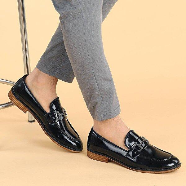 Ayakland 2700 Rugan Günlük Erkek Klasik Ayakkabı SİYAH