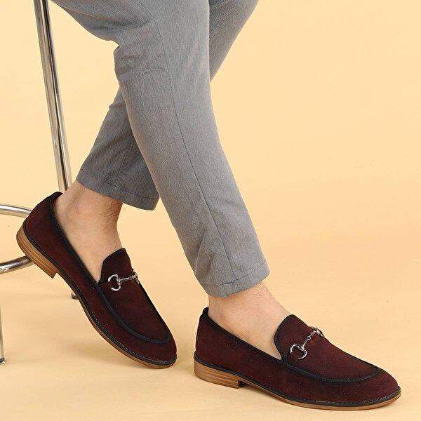 Ayakland 2300 Süet Günlük Erkek Klasik Ayakkabı BORDO