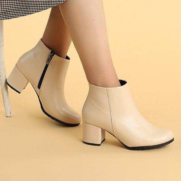 Ayakland 520 Cilt 6 Cm Topuk Termo Taban Bayan Bot Ayakkabı TEN