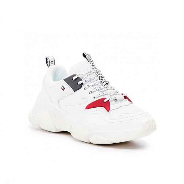 Tommy Hilfiger Kadın  Wmn Chunky Mixed Textile Trainer Kadın Ayakkabı FW0FW04065
