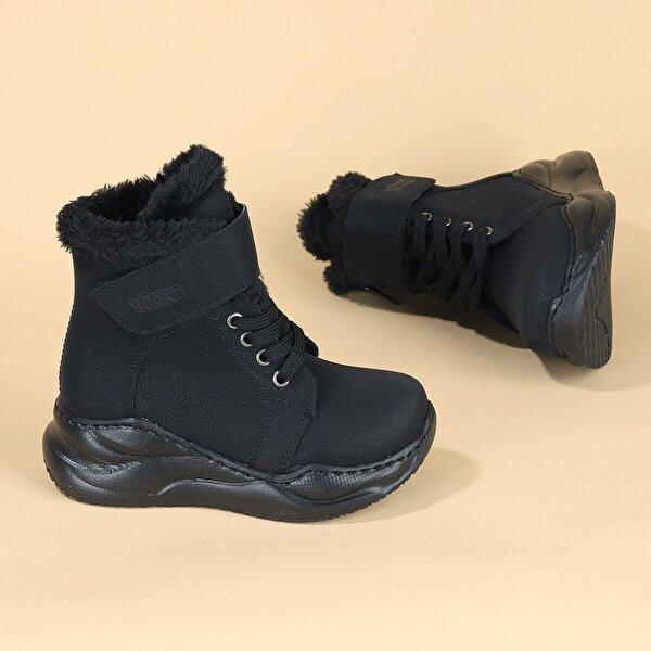Vicco 946.F20K.210 Pole Cırtlı Kız Çocuk Bot Ayakkabı SİYAH