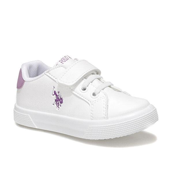 U.S. Polo Assn. WELLINA Beyaz Kız Çocuk Sneaker Ayakkabı