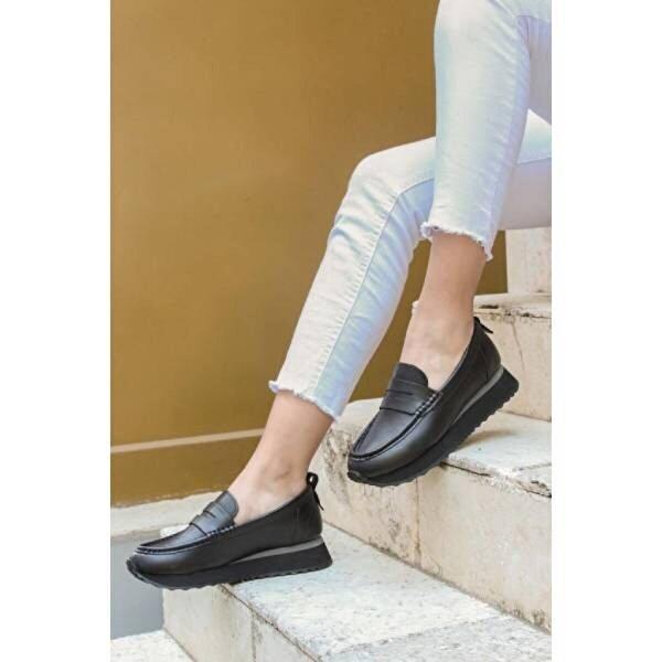 Fast Step Hakiki Deri Kadın Casual Ayakkabı 009ZA851