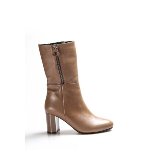 Fast Step Hakiki Deri Kadın Yüksek Topuk Çizme 064SZA531