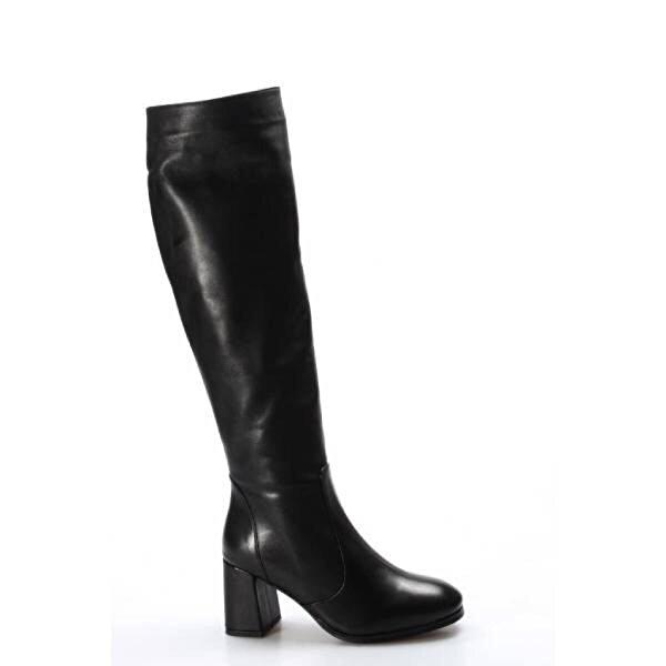 Fast Step Hakiki Deri Kürklü Kadın Klasik Çizme 824YZA20317