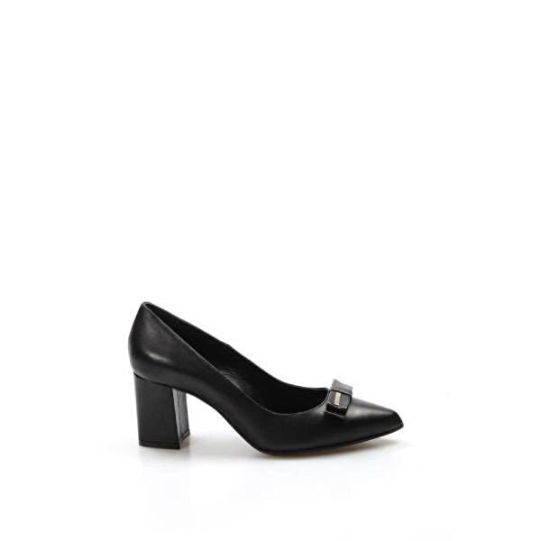 Fast Step Hakiki Deri Kadın Kalın Topuklu Ayakkabı 019ZA8069