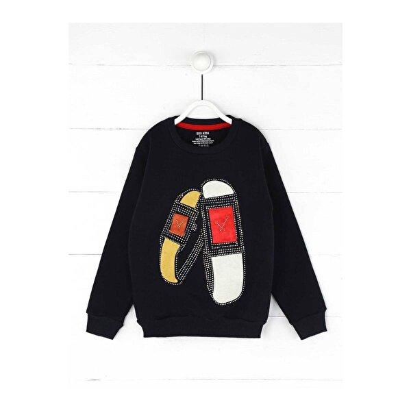 E.R.D Kids Koyu Lacivert Kışlık Kız Çocuk Sweatshirt