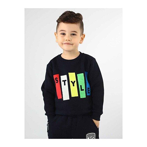 E.R.D Kids Koyu Lacivert Kışlık Erkek Çocuk Sweatshirt