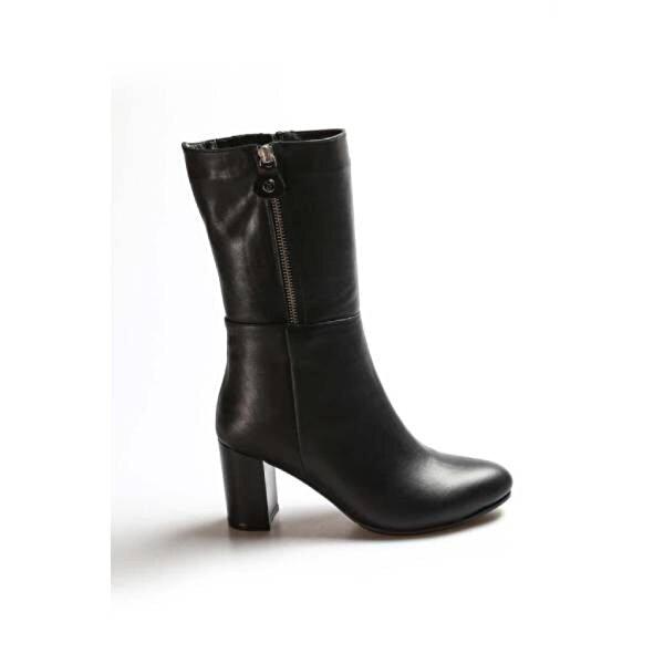 Fast Step Hakiki Deri Kürklü Kadın Yüksek Topuk Çizme 064KZA531