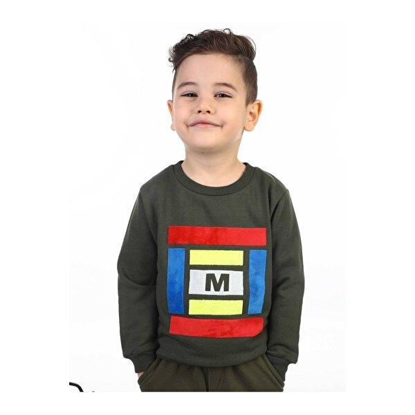 E.R.D Kids Haki Mevsimlik Erkek Çocuk Sweatshirt