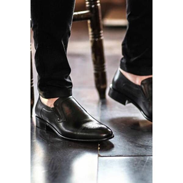 Fast Step Hakiki Deri Kösele Erkek Klasik Ayakkabı 893MA4404