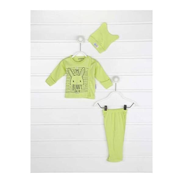 Modakids Yeşil Kundak Eldivenli Erkek Bebek 3 lü Zıbın Takımı