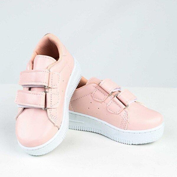 Modakids Pembe Suni Deri Kız Çocuk Spor Ayakkabı