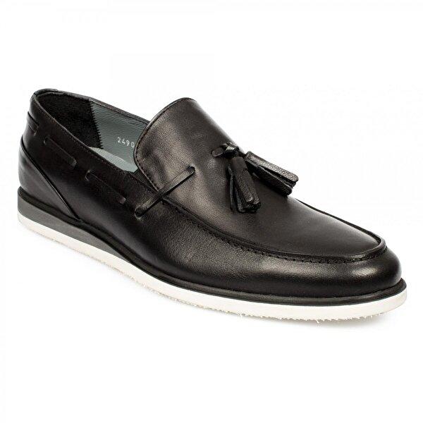 Marcomen 11426 Hakiki Deri Fashion Siyah Erkek Ayakkabı