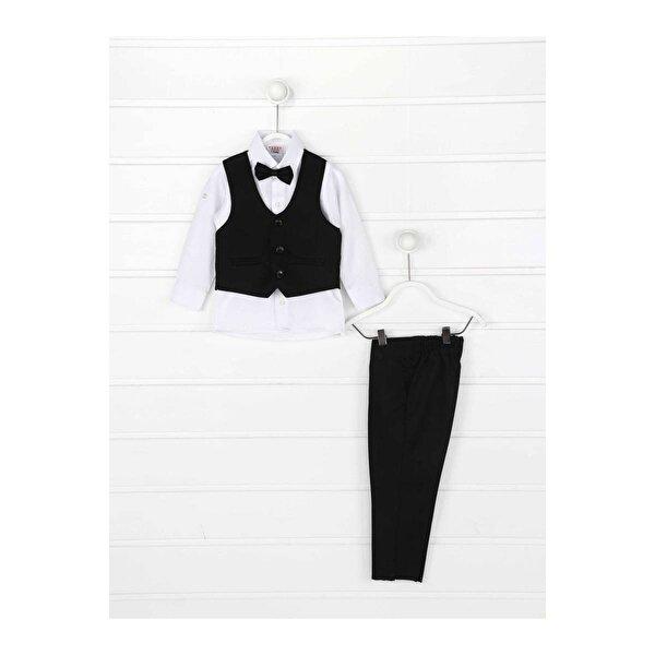 Modakids Siyah Yelekli Papyonlu Erkek Çocuk Takım Elbise