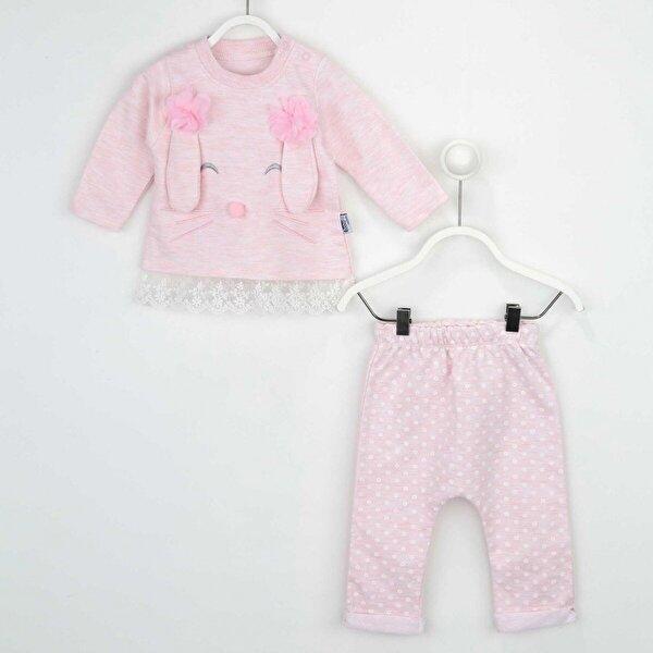 Modakids Pembe Kız Bebek 2 li Takım