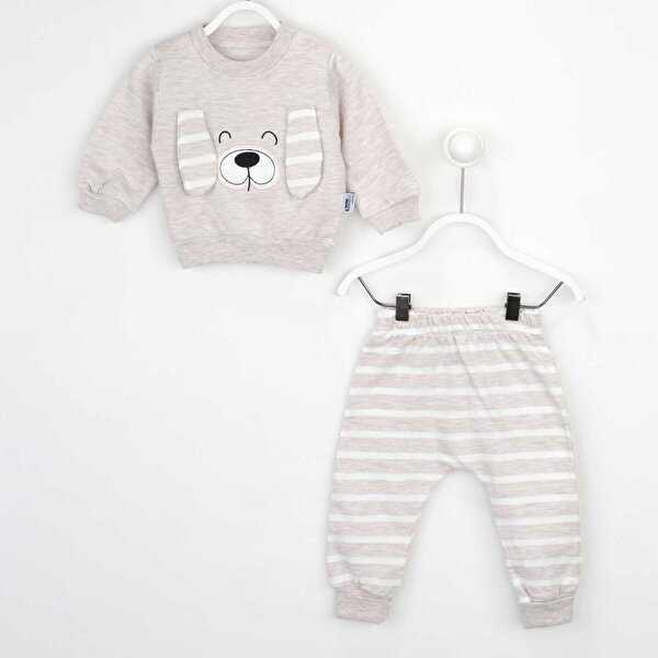 Modakids Kahverengi Erkek Bebek 2 li Takım