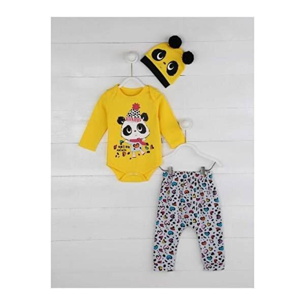 Miniworld Sarı Kız Bebek 3 lü Takım
