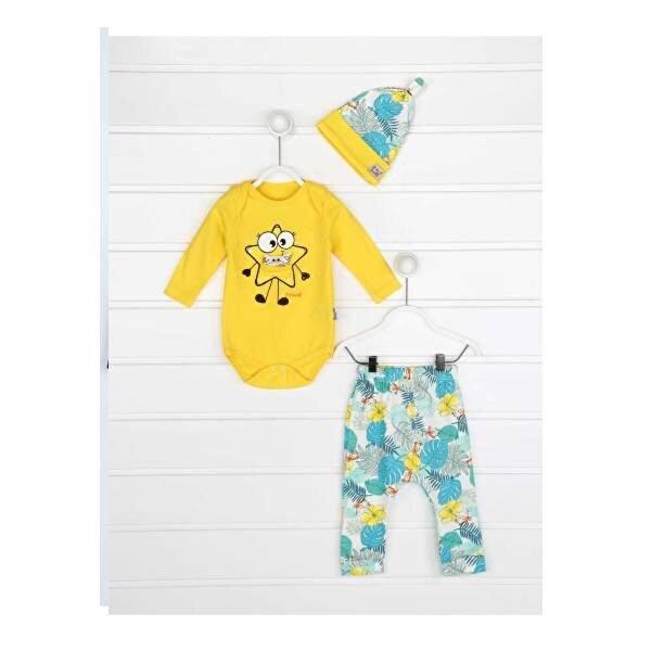Miniworld Sarı Erkek Bebek 3 lü Takım