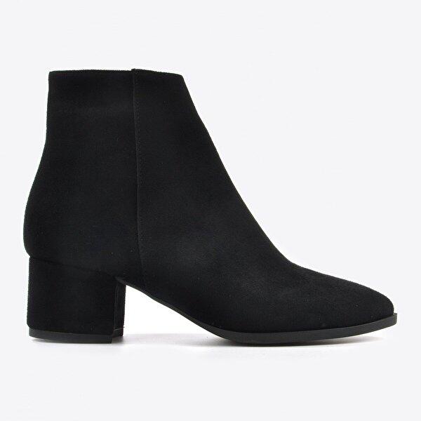 Vizon Ayakkabı Kadın  Siyah Süet Bot VZN20-003K