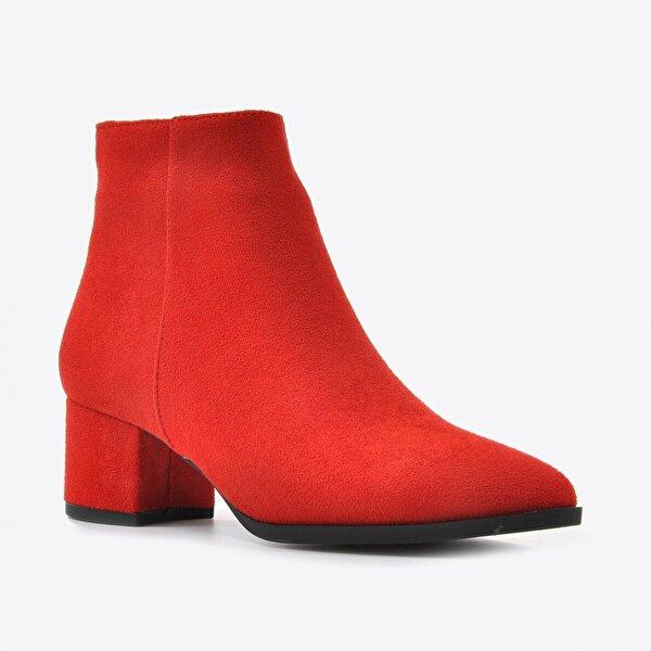 Vizon Ayakkabı Kadın  Kırmızı Süet Bot VZN20-003K