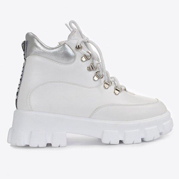 Vizon Ayakkabı Kadın  Beyaz Cilt Bot VZN20-018K