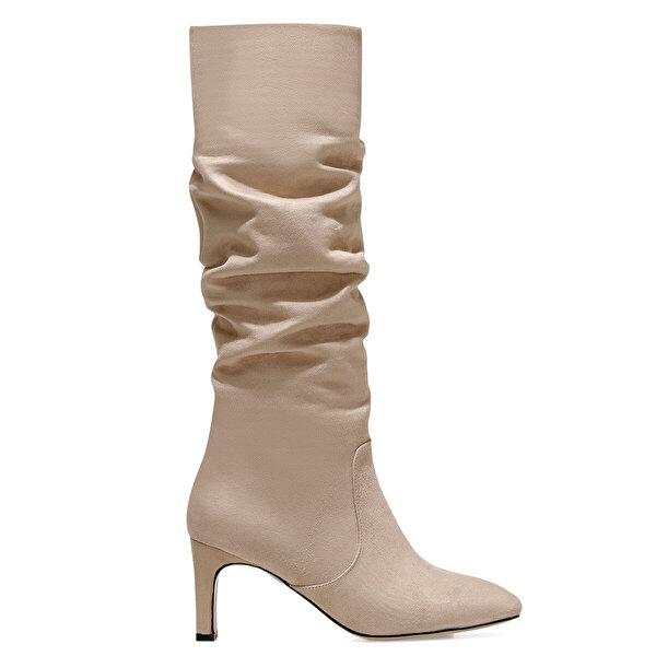 Nine West CAMOSA Bej Kadın Ökçeli Çizme