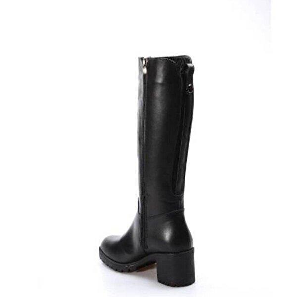 Fast Step Hakiki Deri Kürklü Kadın Kalın Topuklu Çizme 407KZA2114