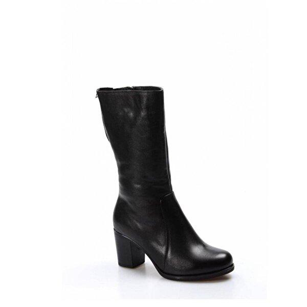 Fast Step Hakiki Deri Kürklü Kadın Yüksek Topuk Çizme 757KZA8805