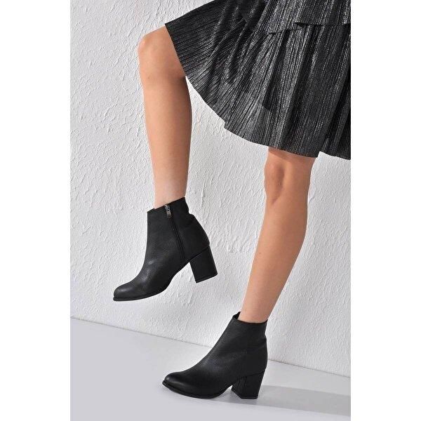 Vizon Ayakkabı Kadın  Siyah Baskı Bot VZN20-015K