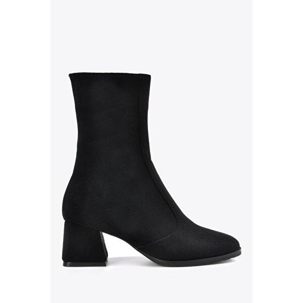 Vizon Ayakkabı Kadın  Siyah Süet Bot VZN20-008K