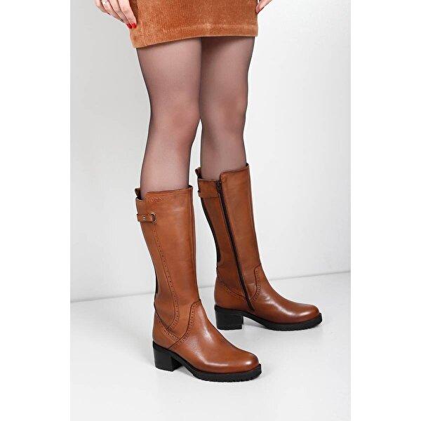 Gön Hakiki Deri Kadın Çizme 44590