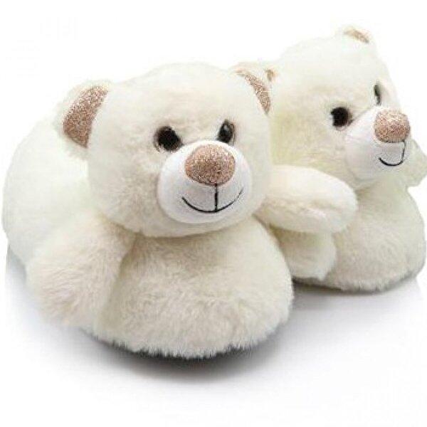 Twigy Bear Hayvanlı Ayıcık Kışlık Ev Pandufu Beyaz