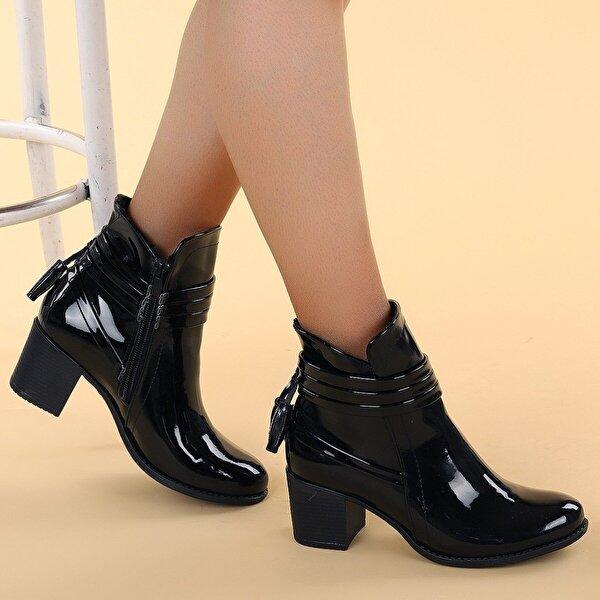 Ayakland 8422-832 Rugan 6 Cm Topuk Termo Kadın Bot Ayakkabı SİYAH