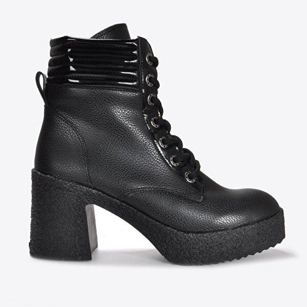 Vizon Ayakkabı Kadın  Siyah Baskı Bot VZN20-058K