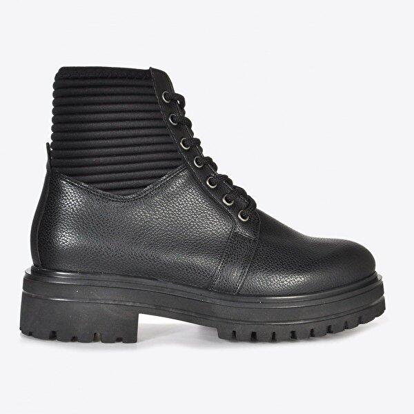 Vizon Ayakkabı Kadın  Siyah Baskı Bot VZN20-074K