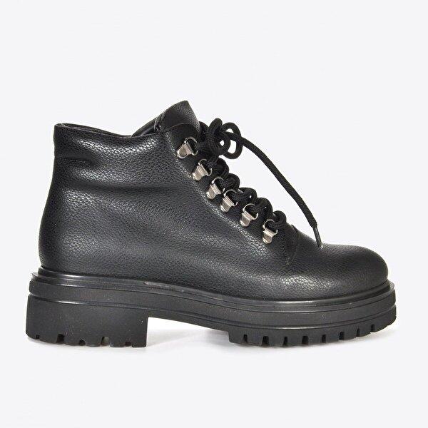 Vizon Ayakkabı Kadın  Siyah Baskı Bot VZN20-075K