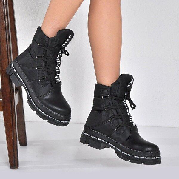 Vizon Ayakkabı Kadın  Siyah Bot VZN20-040K