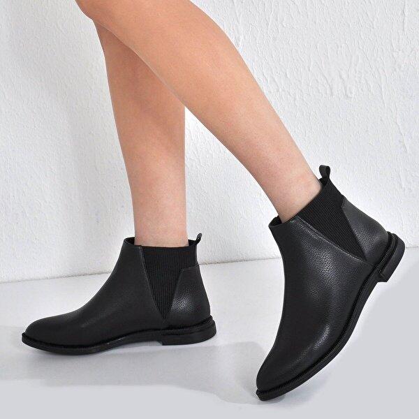 Vizon Ayakkabı Kadın  Siyah Baskı Bot VZN20-067K
